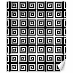 Seamless Pattern Background Black And White Canvas 20  X 24   by Onesevenart