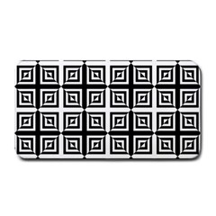 Seamless Pattern Background Black And White Medium Bar Mats by Onesevenart