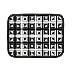 Seamless Pattern Background Black And White Netbook Case (small)  by Onesevenart
