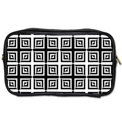 Seamless Pattern Background Black And White Toiletries Bags by Onesevenart