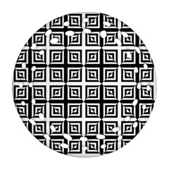 Seamless Pattern Background Black And White Round Filigree Ornament (two Sides) by Onesevenart