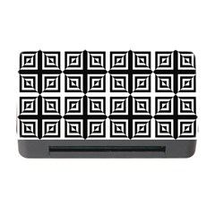 Seamless Pattern Background Black And White Memory Card Reader With Cf by Onesevenart