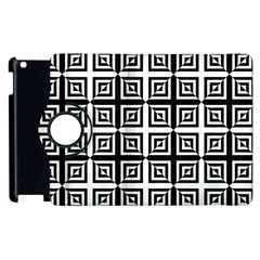 Seamless Pattern Background Black And White Apple Ipad 3/4 Flip 360 Case by Onesevenart