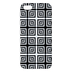Seamless Pattern Background Black And White Apple Iphone 5 Premium Hardshell Case by Onesevenart
