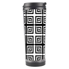 Seamless Pattern Background Black And White Travel Tumbler by Onesevenart
