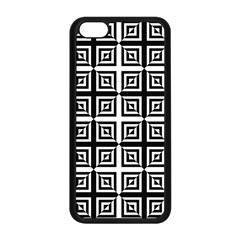 Seamless Pattern Background Black And White Apple Iphone 5c Seamless Case (black) by Onesevenart