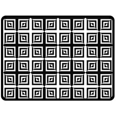 Seamless Pattern Background Black And White Double Sided Fleece Blanket (large)  by Onesevenart