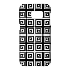 Seamless Pattern Background Black And White Samsung Galaxy S7 Hardshell Case  by Onesevenart