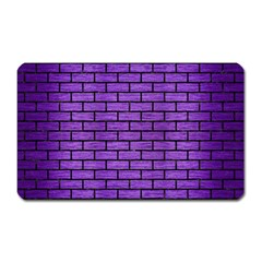 Brick1 Black Marble & Purple Brushed Metal Magnet (rectangular) by trendistuff