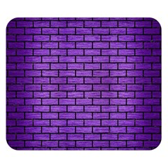Brick1 Black Marble & Purple Brushed Metal Double Sided Flano Blanket (small)  by trendistuff