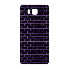 Brick1 Black Marble & Purple Brushed Metal (r) Samsung Galaxy Alpha Hardshell Back Case by trendistuff