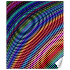 Multicolored Stripe Curve Striped Canvas 20  X 24   by Onesevenart