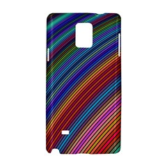 Multicolored Stripe Curve Striped Samsung Galaxy Note 4 Hardshell Case by Onesevenart