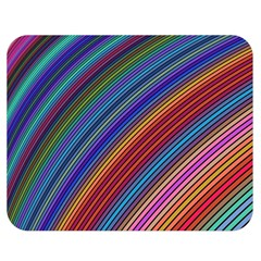 Multicolored Stripe Curve Striped Double Sided Flano Blanket (medium)  by Onesevenart
