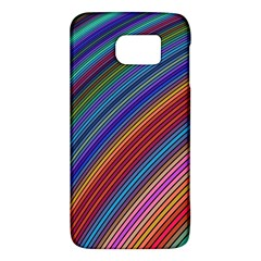Multicolored Stripe Curve Striped Galaxy S6 by Onesevenart