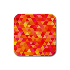 Triangle Tile Mosaic Pattern Rubber Square Coaster (4 Pack)  by Onesevenart