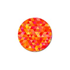 Triangle Tile Mosaic Pattern Golf Ball Marker (4 Pack) by Onesevenart
