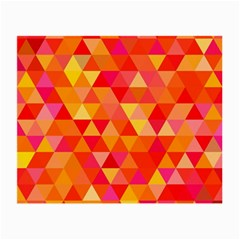 Triangle Tile Mosaic Pattern Small Glasses Cloth by Onesevenart