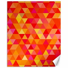 Triangle Tile Mosaic Pattern Canvas 16  X 20   by Onesevenart