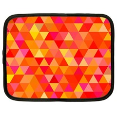 Triangle Tile Mosaic Pattern Netbook Case (xxl)  by Onesevenart