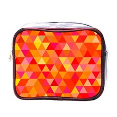 Triangle Tile Mosaic Pattern Mini Toiletries Bags by Onesevenart