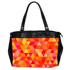 Triangle Tile Mosaic Pattern Office Handbags (2 Sides)  by Onesevenart