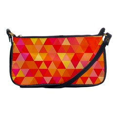 Triangle Tile Mosaic Pattern Shoulder Clutch Bags by Onesevenart