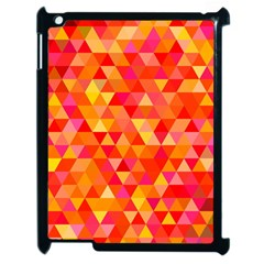 Triangle Tile Mosaic Pattern Apple Ipad 2 Case (black) by Onesevenart