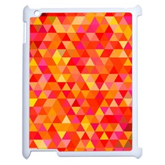 Triangle Tile Mosaic Pattern Apple Ipad 2 Case (white) by Onesevenart