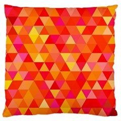 Triangle Tile Mosaic Pattern Standard Flano Cushion Case (one Side) by Onesevenart