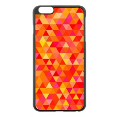 Triangle Tile Mosaic Pattern Apple Iphone 6 Plus/6s Plus Black Enamel Case by Onesevenart