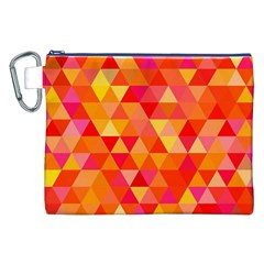 Triangle Tile Mosaic Pattern Canvas Cosmetic Bag (xxl) by Onesevenart