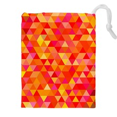Triangle Tile Mosaic Pattern Drawstring Pouches (xxl) by Onesevenart