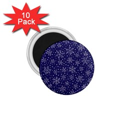 Snowflakes Pattern 1 75  Magnets (10 Pack)  by Onesevenart