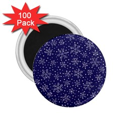 Snowflakes Pattern 2 25  Magnets (100 Pack)  by Onesevenart