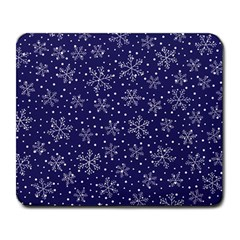 Snowflakes Pattern Large Mousepads by Onesevenart
