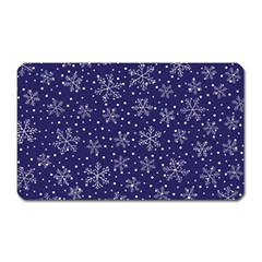 Snowflakes Pattern Magnet (rectangular) by Onesevenart
