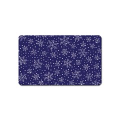 Snowflakes Pattern Magnet (name Card) by Onesevenart