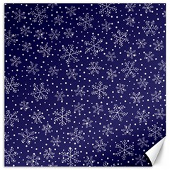 Snowflakes Pattern Canvas 16  X 16   by Onesevenart