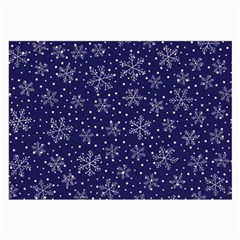 Snowflakes Pattern Large Glasses Cloth (2 Side) by Onesevenart