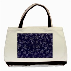 Snowflakes Pattern Basic Tote Bag (two Sides) by Onesevenart