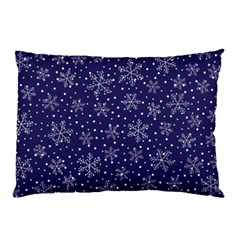 Snowflakes Pattern Pillow Case by Onesevenart