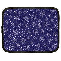 Snowflakes Pattern Netbook Case (xl)  by Onesevenart