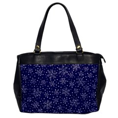Snowflakes Pattern Office Handbags by Onesevenart
