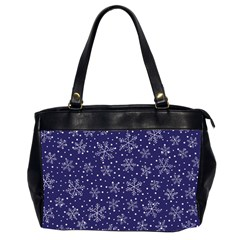 Snowflakes Pattern Office Handbags (2 Sides)  by Onesevenart