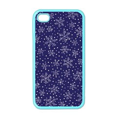 Snowflakes Pattern Apple Iphone 4 Case (color) by Onesevenart