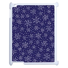 Snowflakes Pattern Apple Ipad 2 Case (white) by Onesevenart