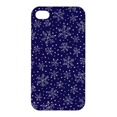Snowflakes Pattern Apple Iphone 4/4s Premium Hardshell Case by Onesevenart