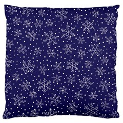 Snowflakes Pattern Large Cushion Case (two Sides) by Onesevenart