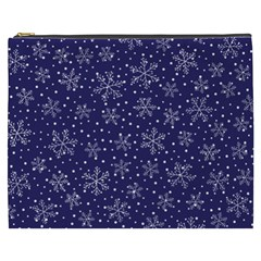 Snowflakes Pattern Cosmetic Bag (xxxl)  by Onesevenart